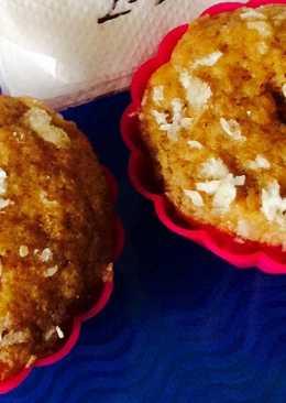 Eggless oats pumpkin muffins.