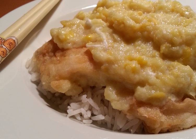Fish fillet and corn sauce recipe by arethaeats for Fish fillet sauce