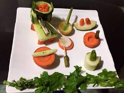 Vegetables kitchen set