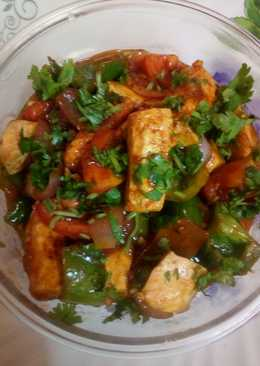Chilly paneer in dhaaba style