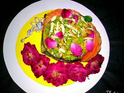 Sweet colourful boondi