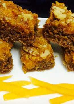 Eggless Coco Almond pumpkin Brownies.....#Baking