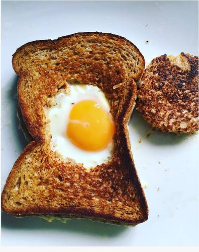 Simple Grilled Cheese and Fried Egg Sandwich