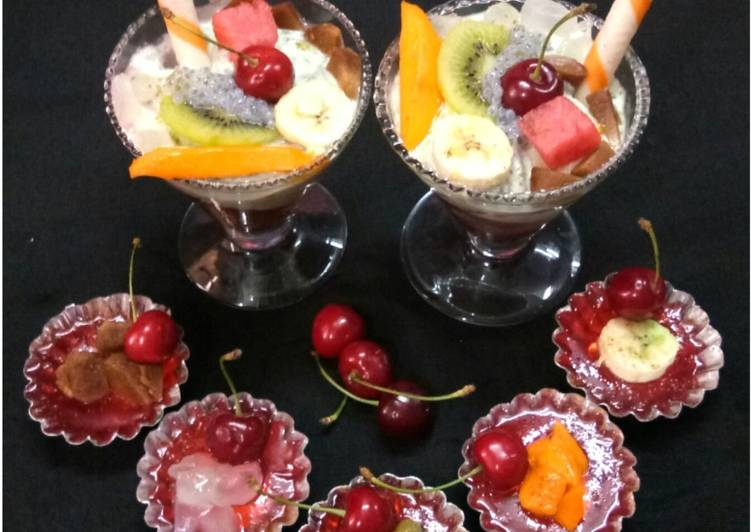 Mixed Fruits Jelly Curd