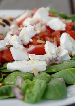 Zesty spinach salad