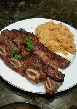 Brad's teriyaki grilled short ribs with coconut curry rice
