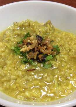 Turmeric Arroz Caldo (Filipino Chicken Congee w a Twist) - Lugaw w Brown Red Rice