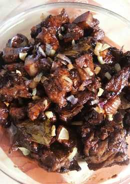 Chicken and pork adobo