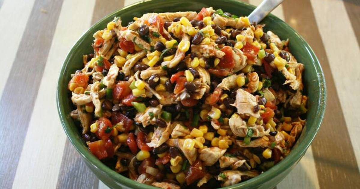 Black Bean Chicken Salad Recipe by Tiffany Aurelia