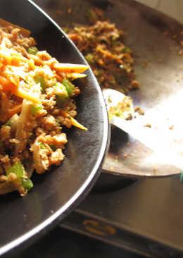Soya Granules Stir Fry - Step by Step Recipe