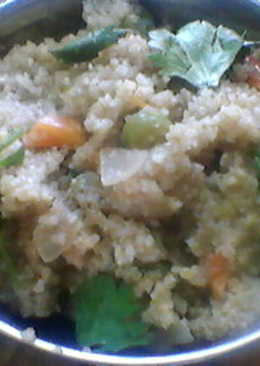 Masala Upma / Spicy Semolina (Wheat)