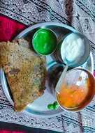 Fasting thali buck wheat(kuttu) flour chilla & potatoes curry