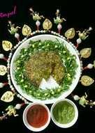 Corn Spinach Handvo