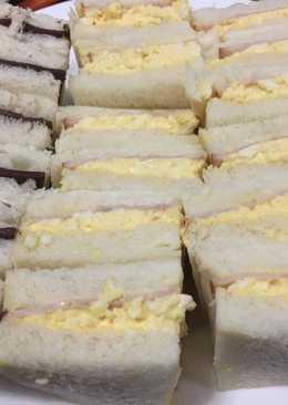 Ham & Egg Mayonnaise Sandwiches