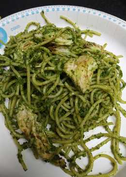 Green Pesto Spaghetti