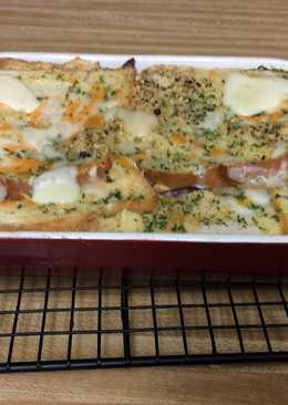 Brunch Grilled Ham Cheese Casserole