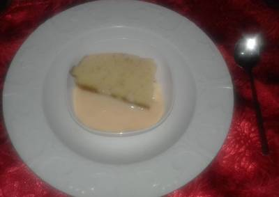 Lemon Cake and Custard