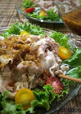 Cold Pork Shabu-Shabu with Koumi (flavor) sauce