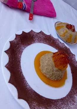 Quinoa mango pudding