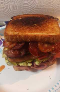 resep masakan italian meats and egg sandwich