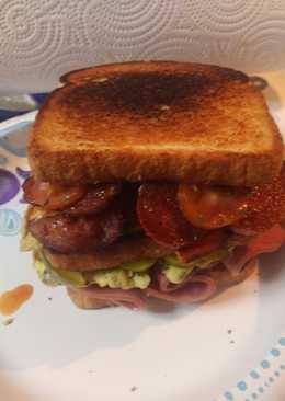 Italian Meats and Egg Sandwich