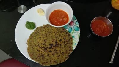 Bajri Methi and green garlik Dhebara