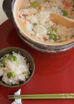 Broad Bean & Sakura Shrimp Rice
