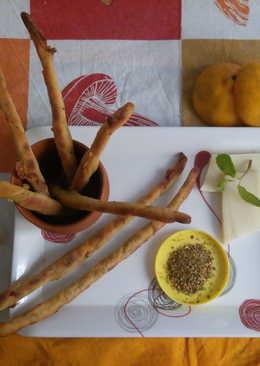 Orange and cheese straws