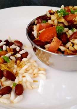 Red beans krispies treat
