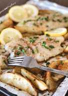 Crispy Pan Fried Fish with Lemon Butter Sauce