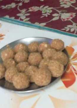 Almond sesame peanut laddu with jaggery