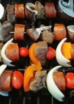 Brad's grilled teriyaki kabobs