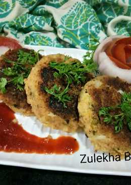 Upma and peas kabab from left overfood