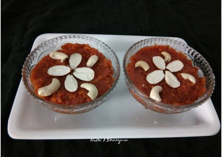 Indian Carrot Pudding Recipe By Nidhi Ashwani Bhargava Cookpad India