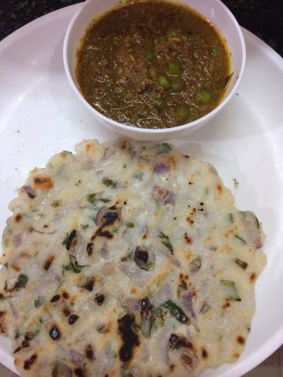 Akki roti and kurma