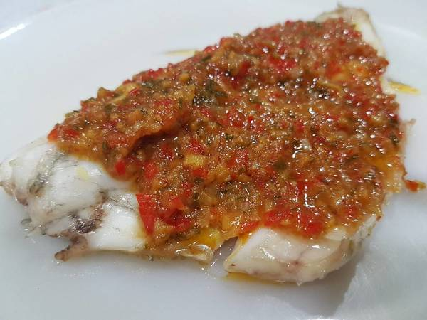 Steamed Fish in Sweet and Savory Tauchu Sauce