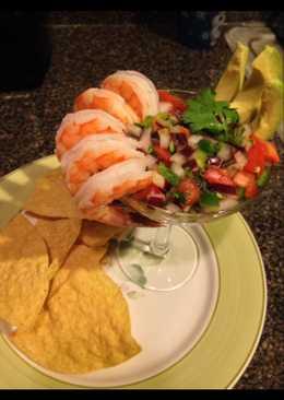 Shrimp cocktail ceviche