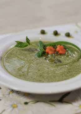 Pea soup with mint and ginger
