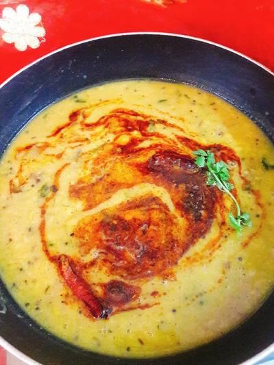 Red lentil coconut dal