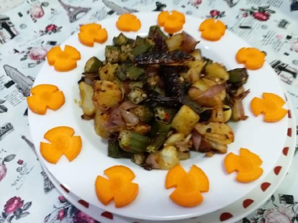 Bhindi aloo ki dry sabzi