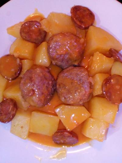 Chorizo & Meatball Casserole