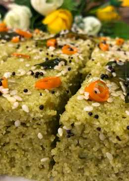 Palak Sooji Dhokla (Spinach Rava Dhokla) – Winter Special