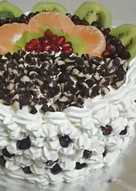 Mixed fruit and chocolate chips cake