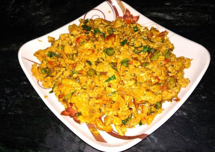 Egg matar bhurji Recipe by Nisha Srivastava - Cookpad India