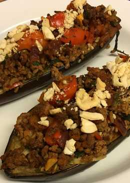 Turkish stuffed aubergines with beef and tomatoes (Karniyarik) 🇹🇷