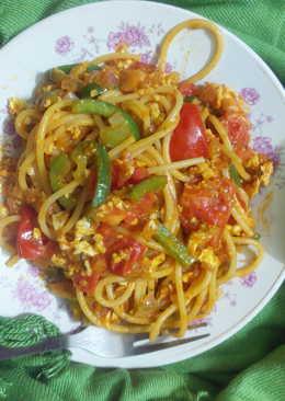 Bhurji spaghetti