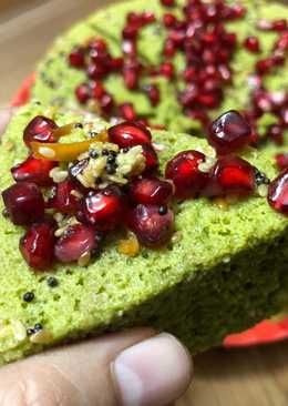 Palak Besan Ka Dhokla (Steamed Spinach Gramflour Savory Cake) – Winter Breakfast Special