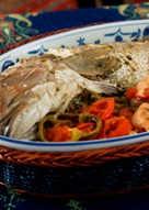 Oven baked fish with chili - samkeh harra