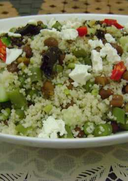 Couscous & French Beans Salad with Chickpeas & Cucumber