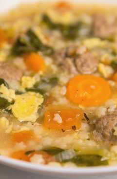 resep masakan italian wedding soup with meatballs